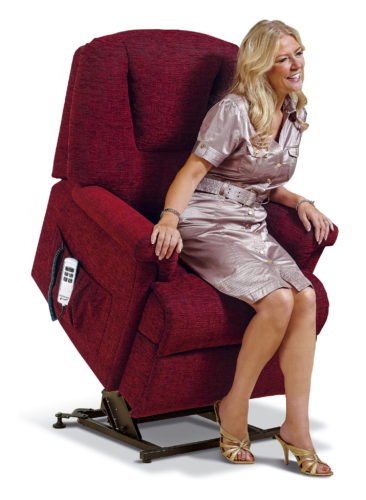 Milburn Small Fabric 'Lift & Rise' Recliner