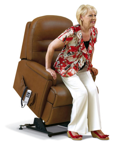 Keswick Small Leather 'Lift & Rise' Recliner