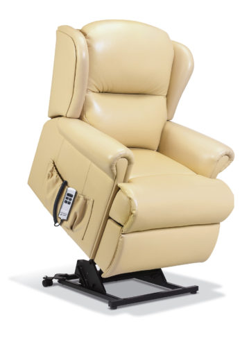 Malvern Small Leather 'Lift & Rise' Recliner