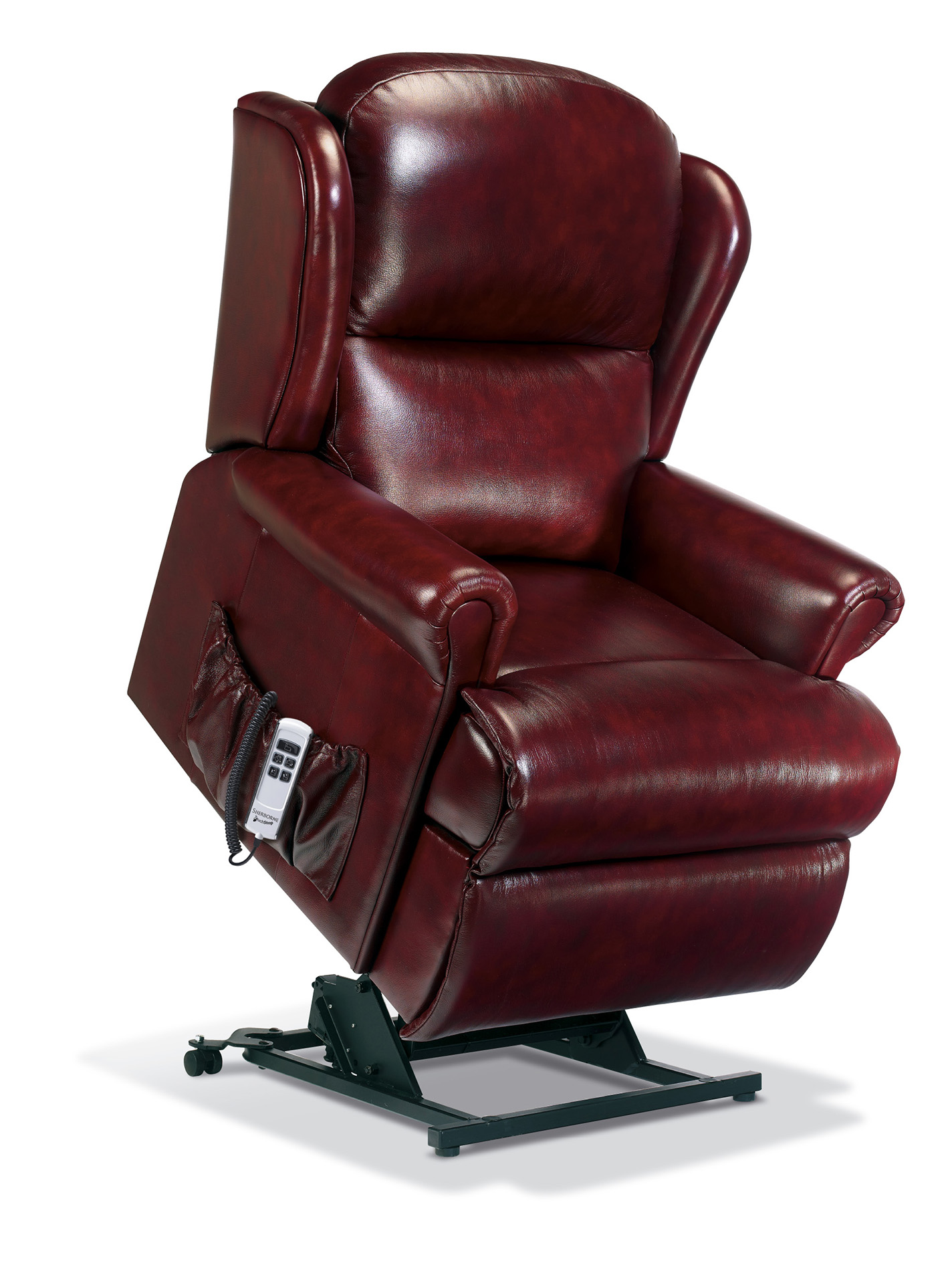 Malvern Standard Leather Electric Riser Recliner ...