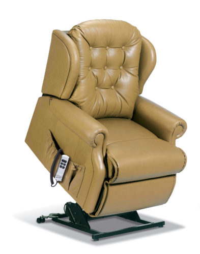 Lynton Petite Leather 'Lift & Rise' Recliner