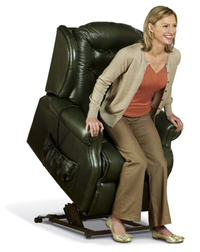 Lynton Small Leather 'Lift & Rise' Recliner