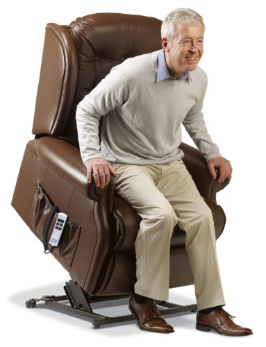 Lynton Royale Leather 'Lift & Rise' Recliner