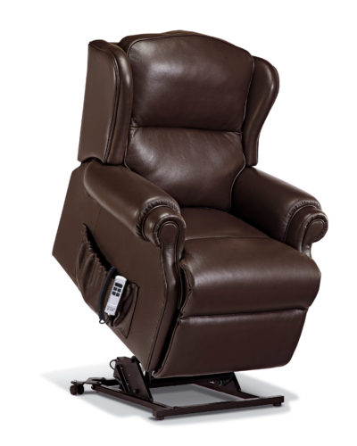 Claremont Small Leather 'Lift & Rise' Recliner