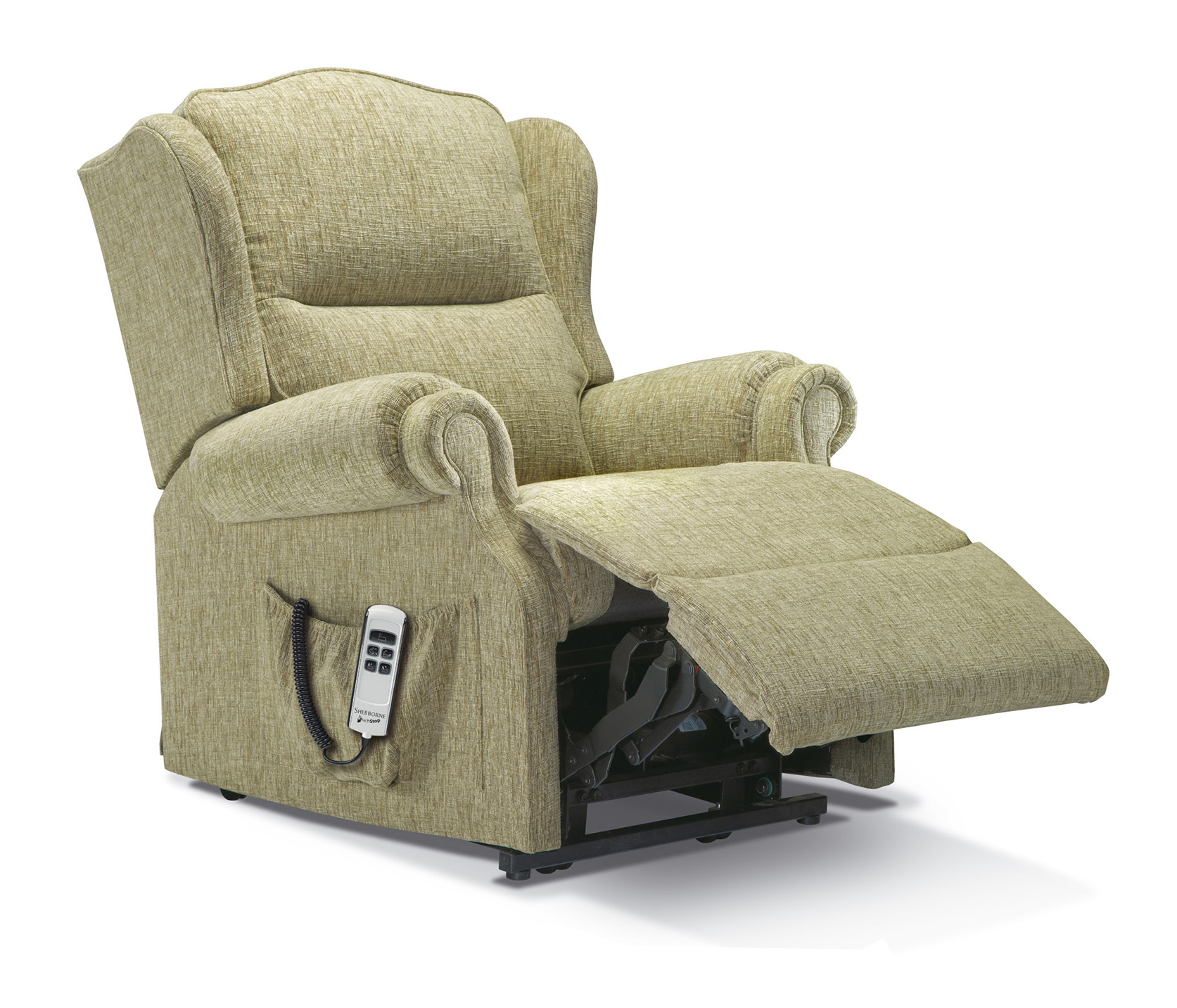 Claremont Small Fabric Electric Riser Recliner Sherborne