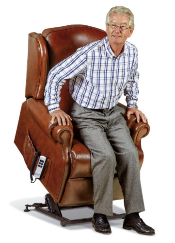 Claremont Standard Leather 'Lift & Rise' Recliner