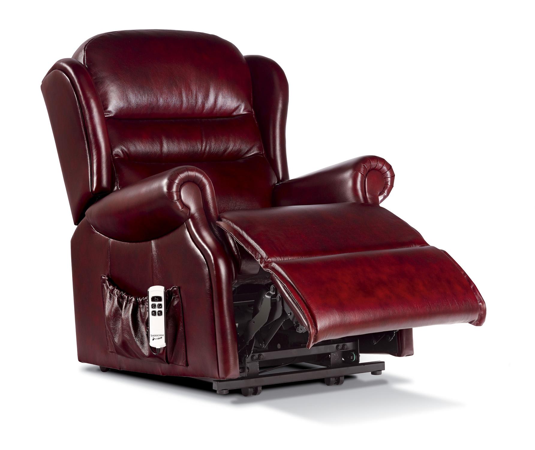 ashford small leather electric riser recliner sherborne. Black Bedroom Furniture Sets. Home Design Ideas