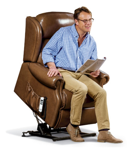 Ashford Royale Leather 'Lift & Rise' Recliner