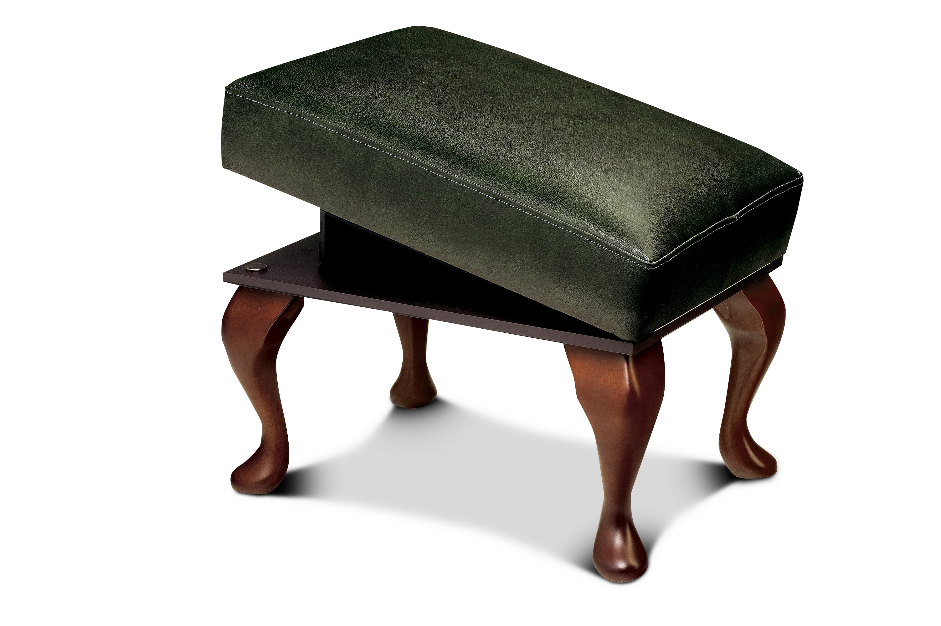 Kensington Lynton Leather Leg Rest Stool Sherborne