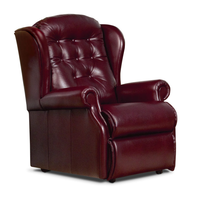 Lynton Small Leather Fixed Chair Sherborne Upholstery