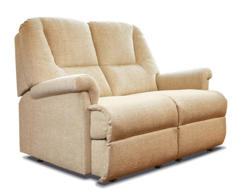 Milburn Petite Fabric Fixed 2-Seater Settee