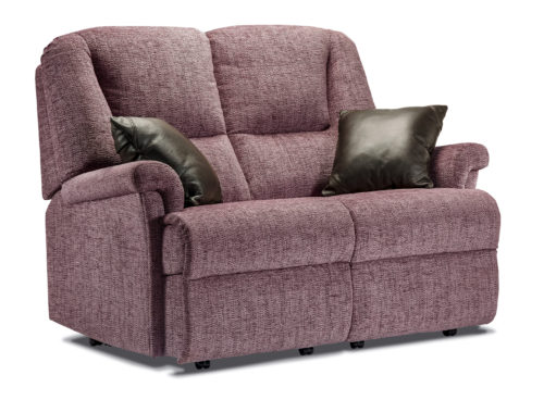 Milburn Small Fabric Fixed 2-Seater Settee