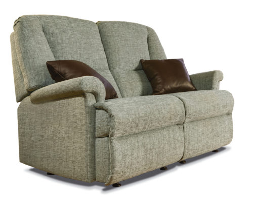 Milburn Standard Fabric Fixed 2-Seater Settee