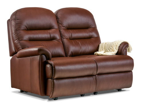 Keswick Petite Leather Fixed 2-Seater Settee