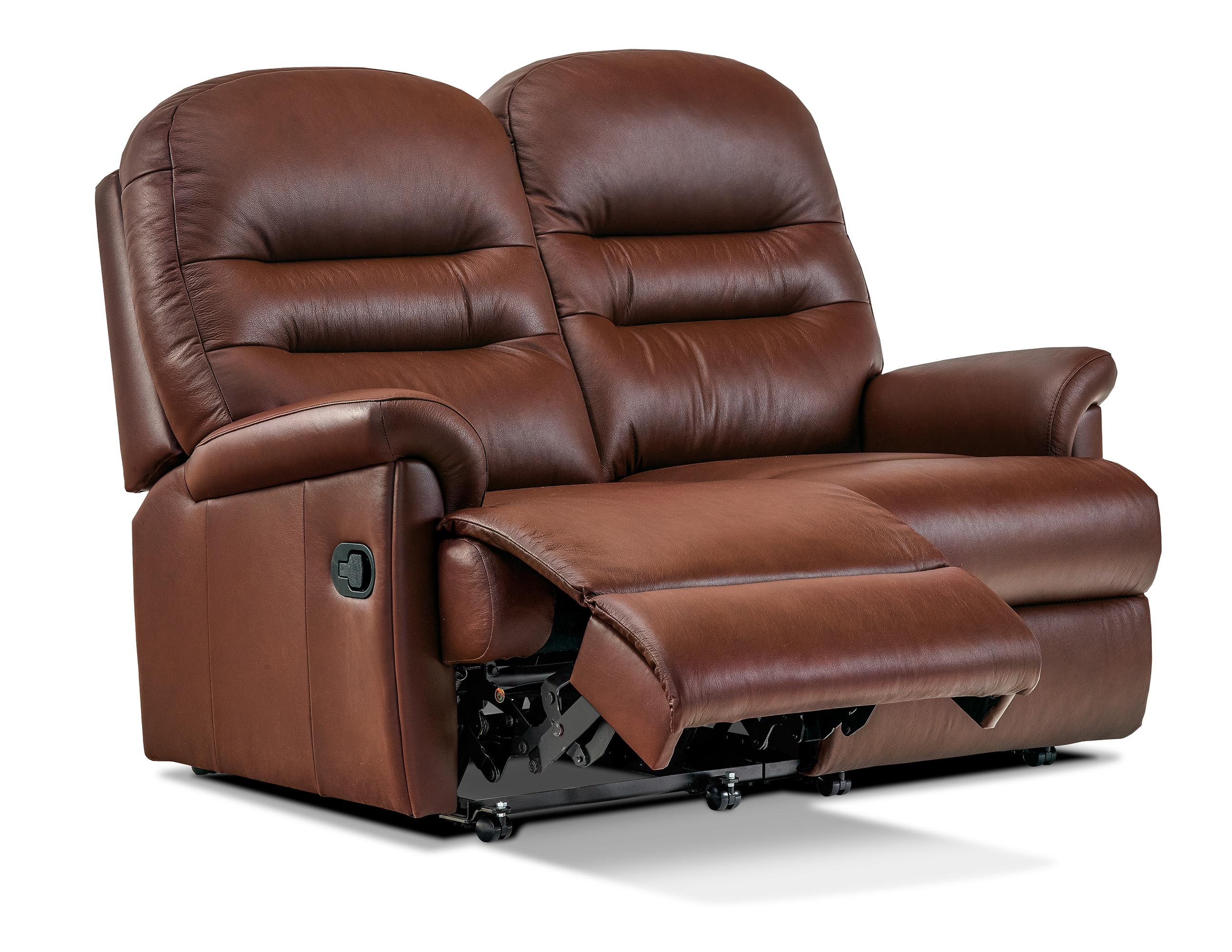 Keswick Petite Leather Reclining 2 Seater Settee