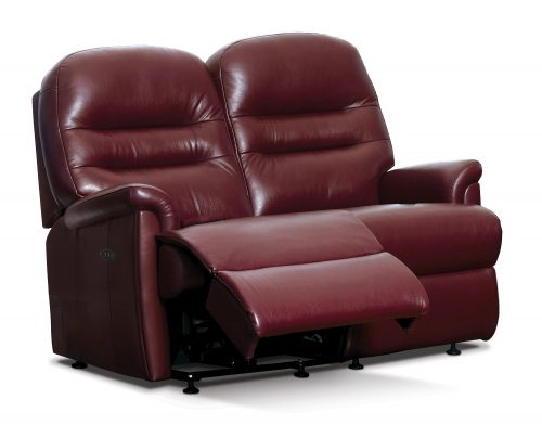 Keswick Standard Leather Reclining 2-Seater Settee