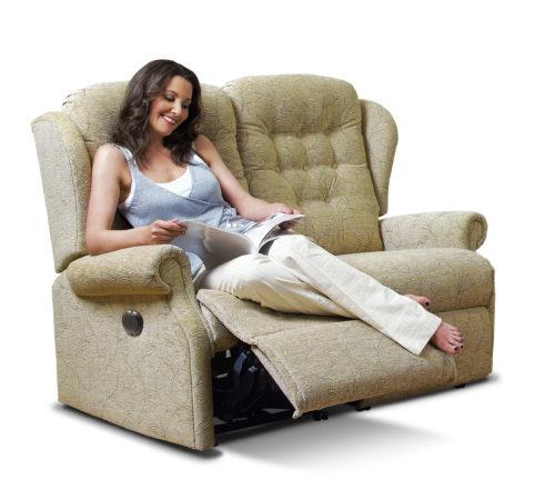 Lynton Standard Fabric Reclining 2-Seater Settee