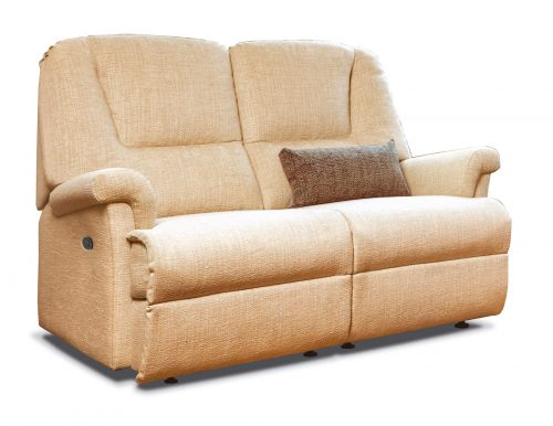 Milburn Petite Fabric Reclining 2-Seater Settee