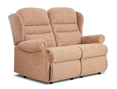 Ashford Small Fabric Fixed 2-Seater Settee