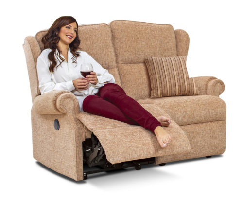Claremont Standard Fabric Reclining 2-Seater Settee