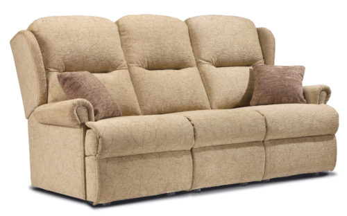 Malvern Standard Fabric Fixed 3-Seater Settee