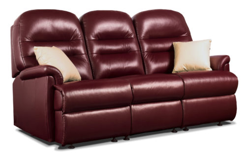 Keswick Small Leather Fixed 3-Seater Settee