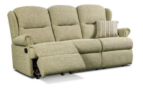 Malvern Small Fabric Reclining 3-Seater Settee