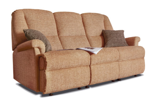 Milburn Standard Fabric Fixed 3-Seater Settee