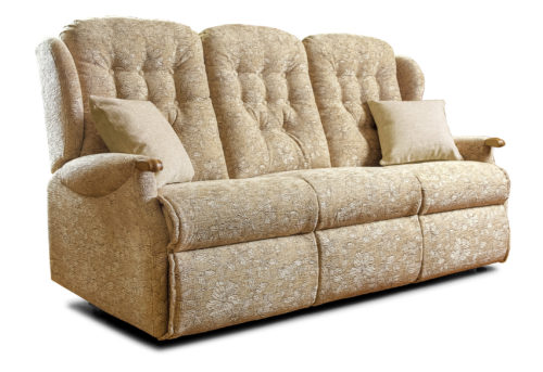 Lynton Knuckle Standard Fabric Fixed 3-Seater Settee