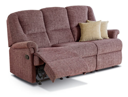 Milburn Small Fabric Reclining 3-Seater Settee