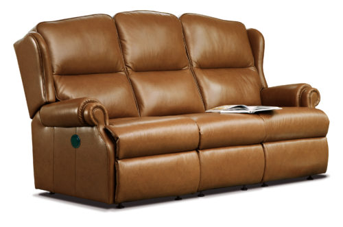 Claremont Standard Leather Reclining 3-Seater Settee