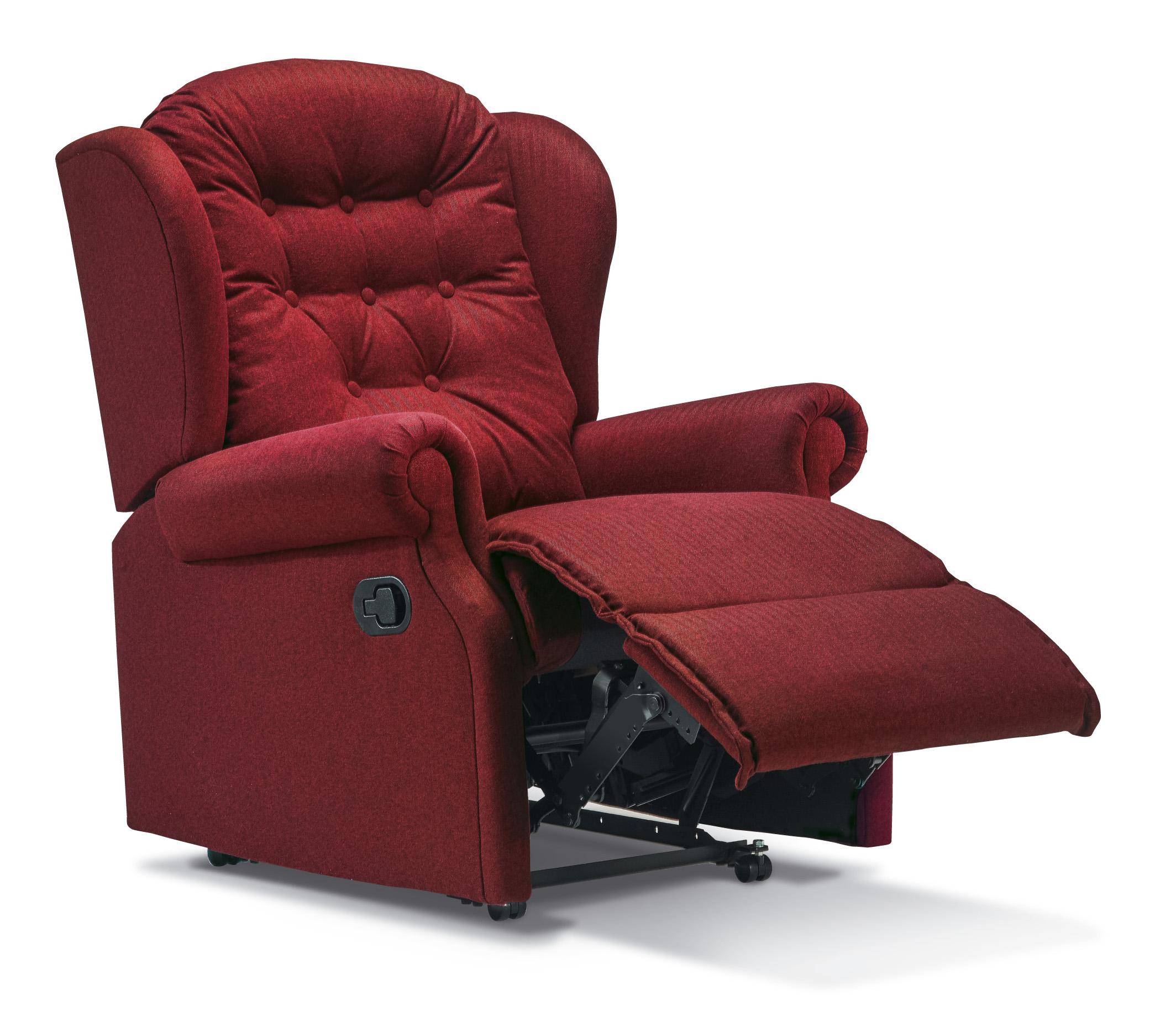 lynton small fabric recliner sherborne upholstery