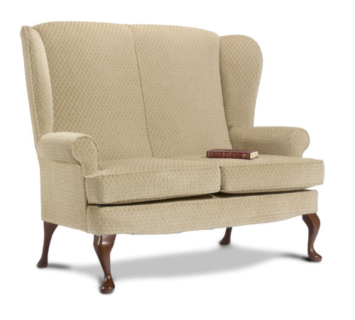 Buckingham Fabric High Seat 2-Seater Settee