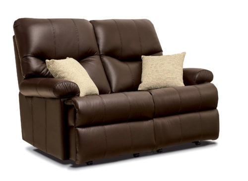 Norvik Standard Leather Fixed 2-Seater Settee