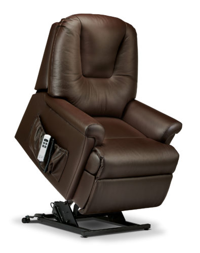 Milburn Petite Leather 'Lift & Rise' Recliner