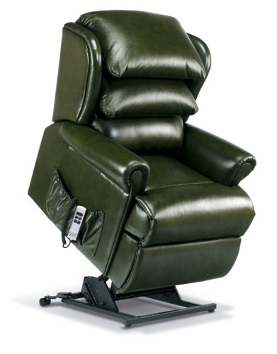 Windsor Small Leather 'Lift & Rise' Recliner