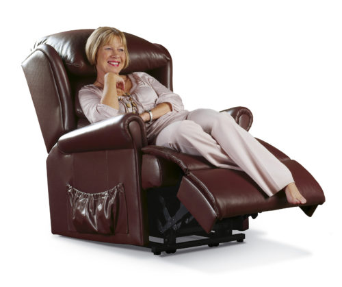 Windsor Standard Leather 'Lift & Rise' Recliner