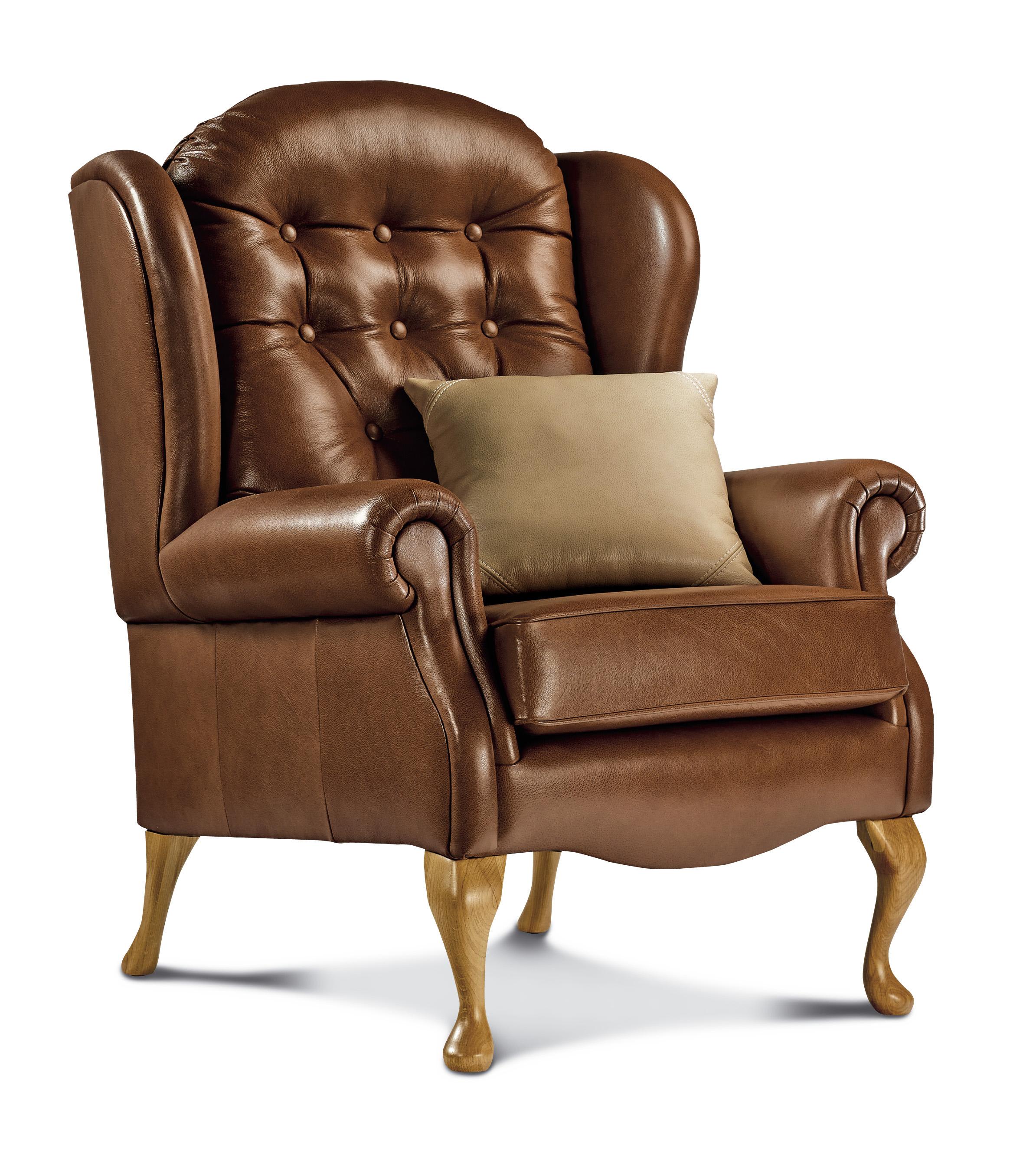 Lynton Standard Leather Fireside Chair Sherborne Upholstery