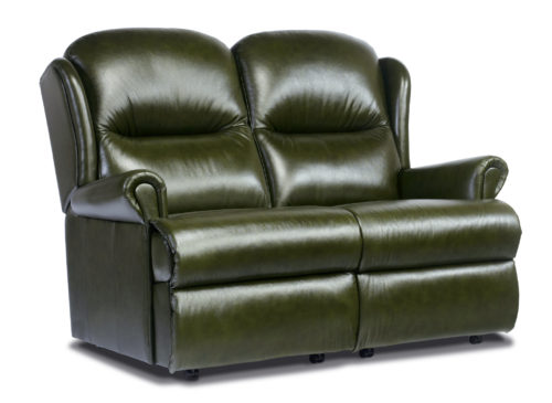 Malvern Standard Leather Fixed 2-Seater Settee