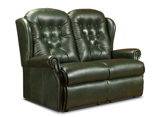 Lynton Standard Leather Fixed 2-Seater Settee