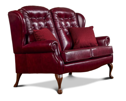 Lynton Standard Leather Fireside Settee