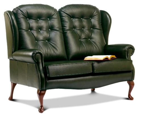 Lynton Standard Leather High Seat Settee