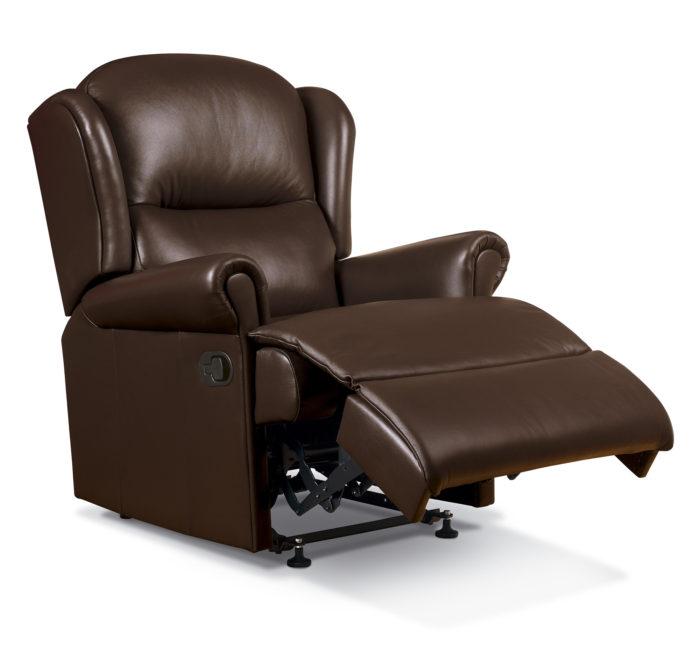 malvern small leather recliner sherborne upholstery. Black Bedroom Furniture Sets. Home Design Ideas