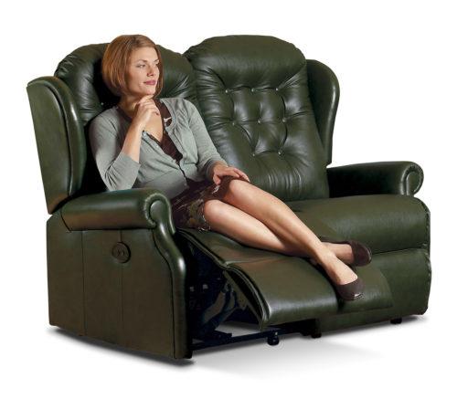 Lynton Standard Leather Reclining 2-Seater Settee
