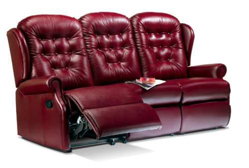 Lynton Standard Leather Reclining 3-Seater Sette