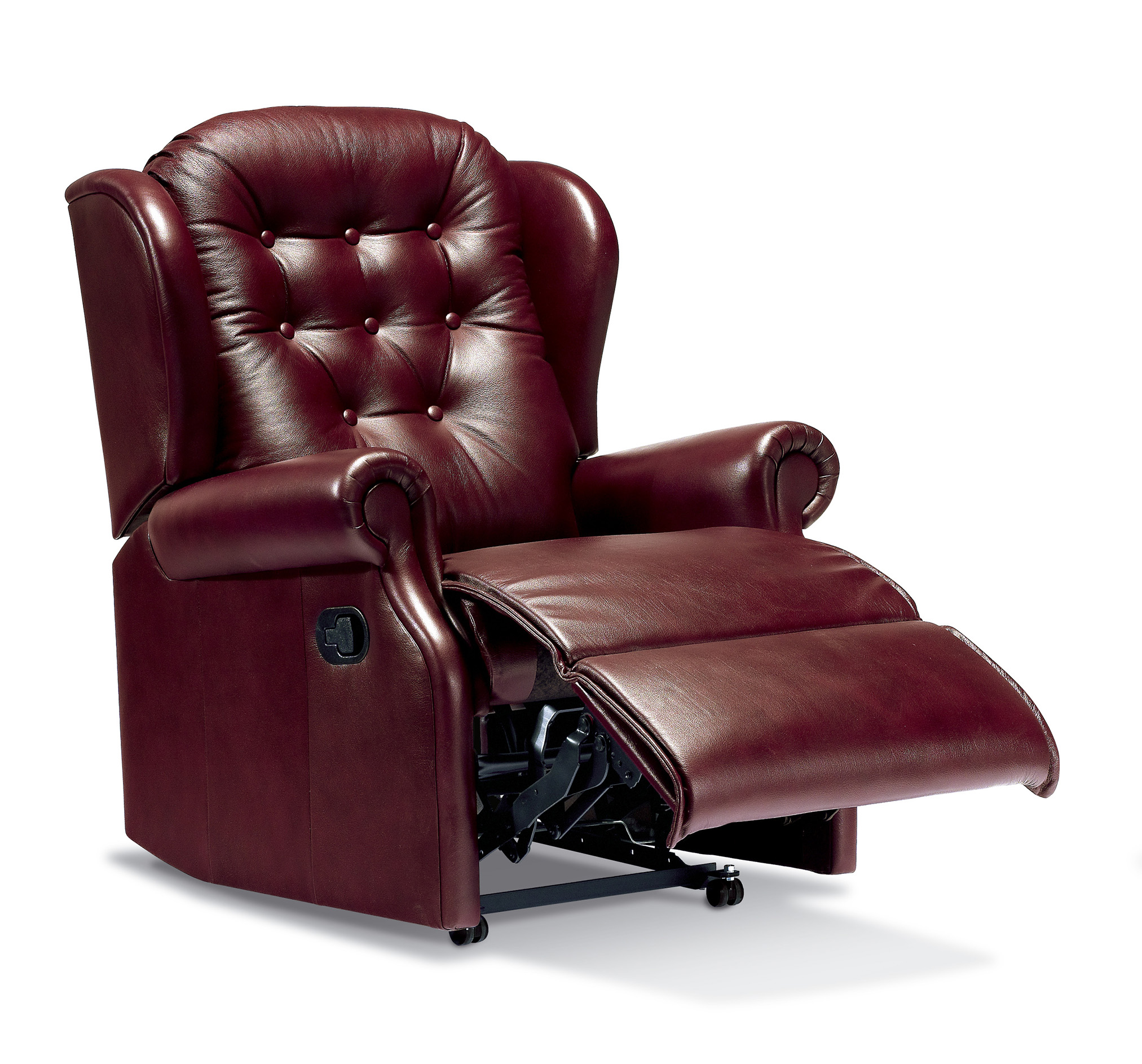 Lynton Small Leather Recliner - Sherborne Upholstery
