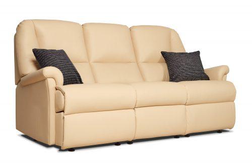 Milburn Standard Leather 3 Seater