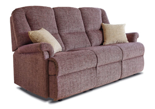 Milburn Small Fabric Fixed 3-Seater Settee