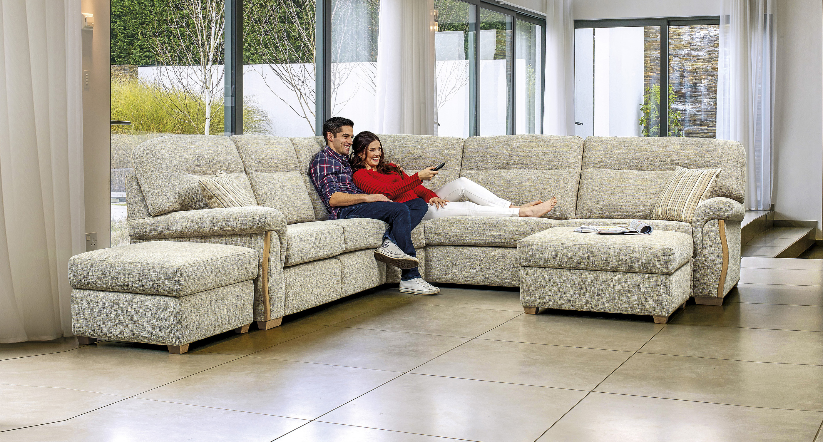 rembrandt large standard fabric corner suite sherborne upholstery
