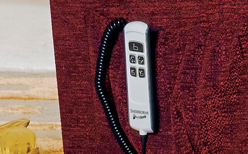 Lift and rise handset
